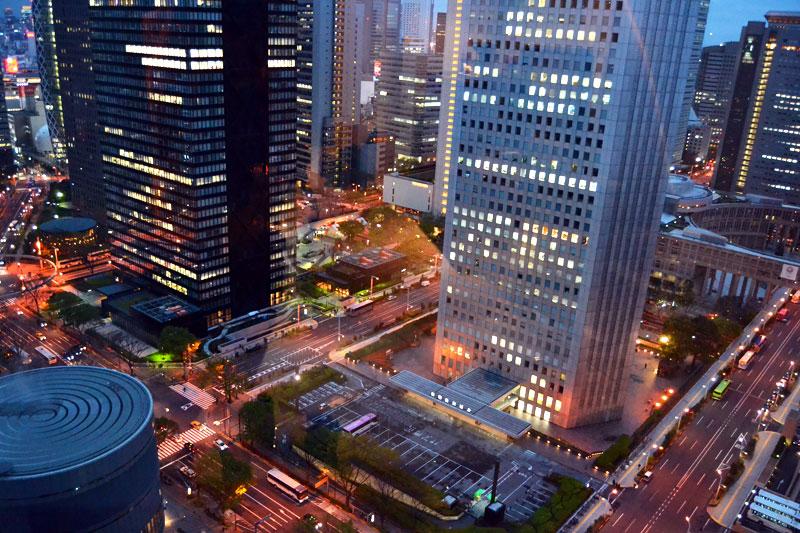 Tokyo Aussicht aus dem Hilton Hotel