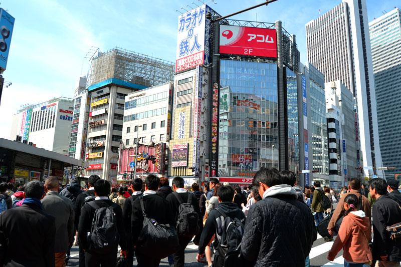 Belebte Kreuzung in Tokyo