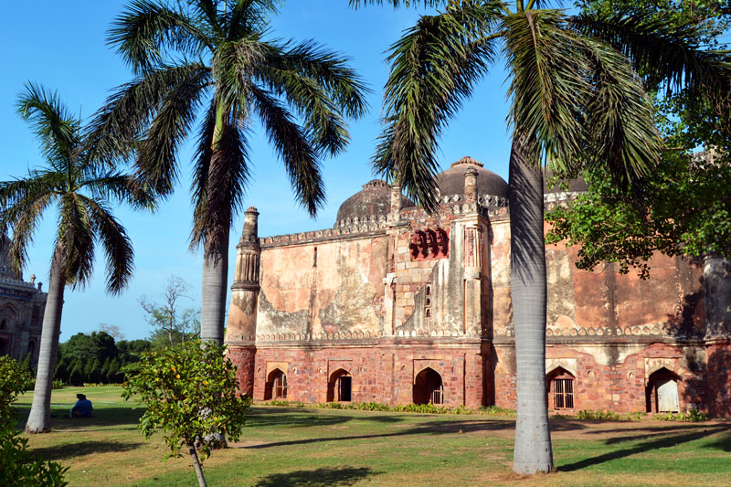 Indien, Mausoleum in den Lodi-Gärten in Delhi