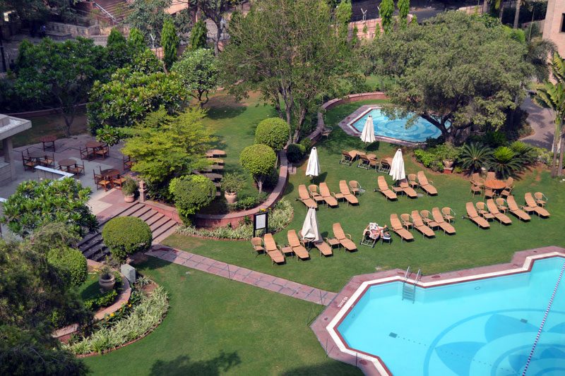 Delhi Hyatt Regency Pool Landschaft