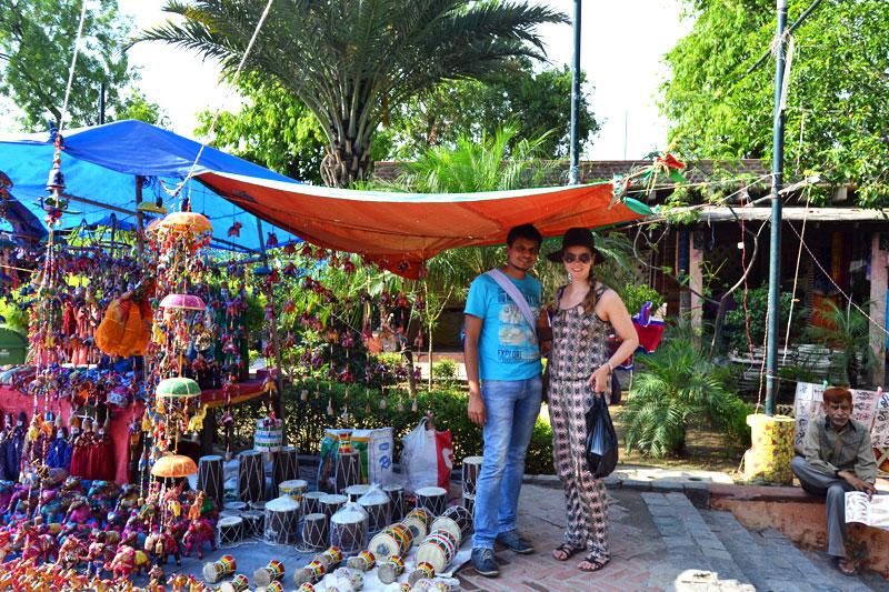 Dilli Haat, Markt in Delhi - zum ersten Mal in Indien