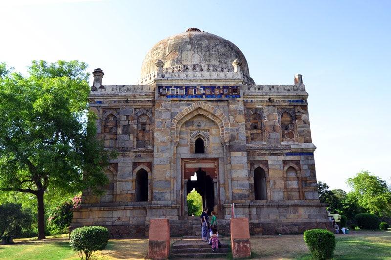 Mausoleum in den Lodi Gärten in Delhi, Indien