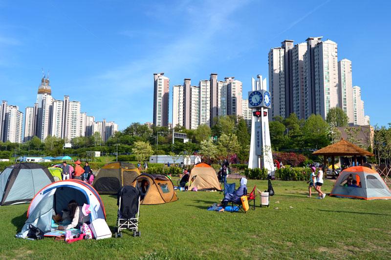 Jamsil Hangang Park in Seoul, Südkorea