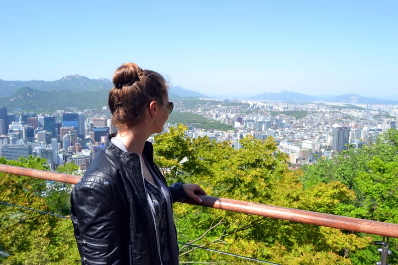 Hamsterrad: Aussicht vom Seoul Tower