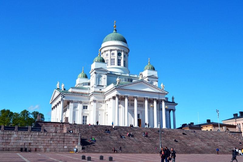 Dom am Senatsplatz in Helsinki, Finnland