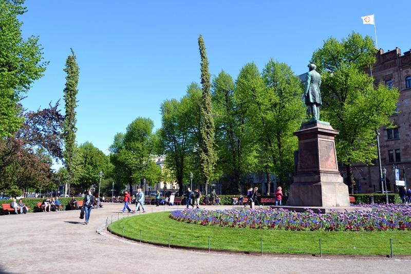 Esplanade Park in Finnland, Helsinki