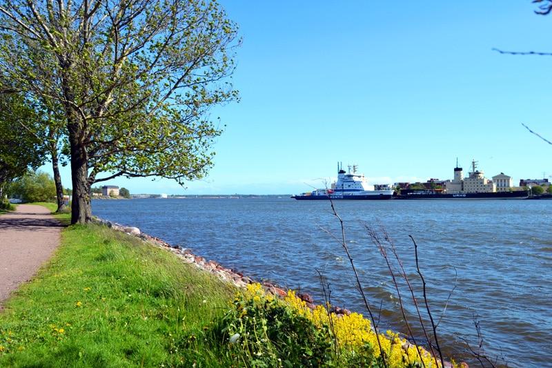 Halbinsel Tervasaari in Helsinki, Finnland