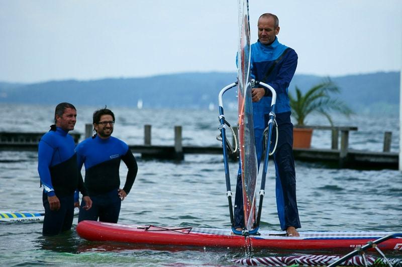 Pierre-Yves Mottier beim Windsurfkurs Lightriding am Starnberger See