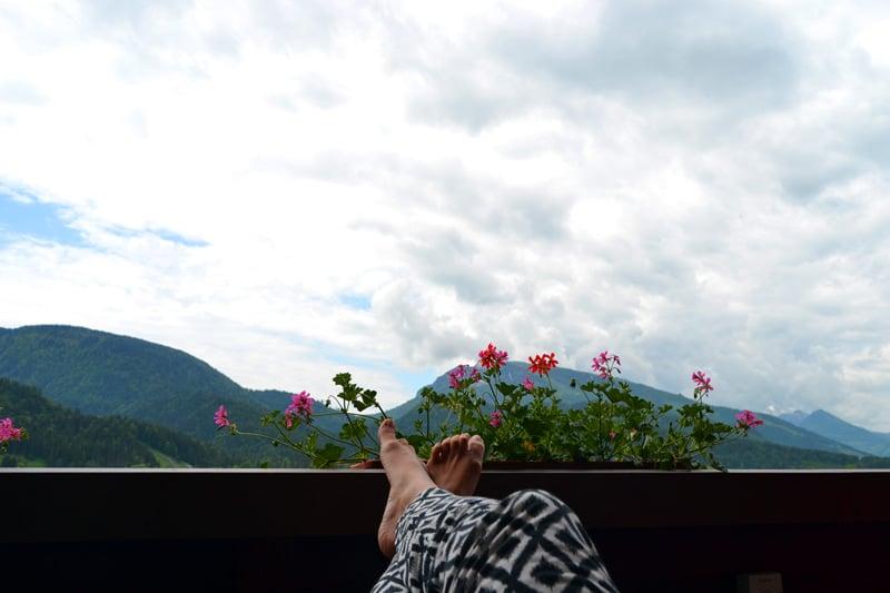 DEVA Hotel Sonnnleiten Reit im Winkl Aussicht
