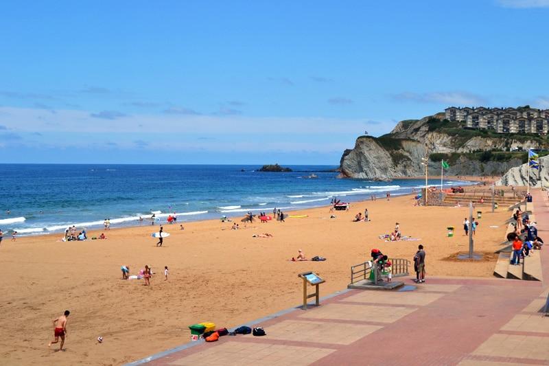 Strand vor Bilbao, Spanien