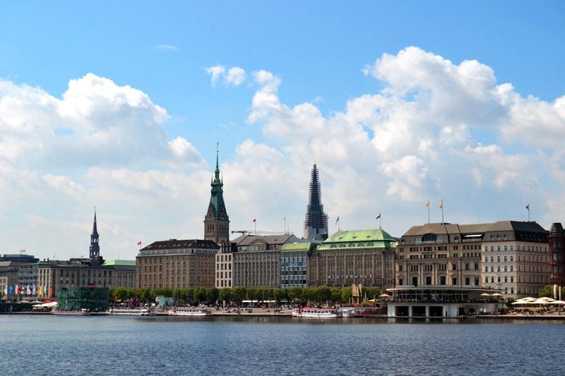 Promenade an der Alster in Hamburg