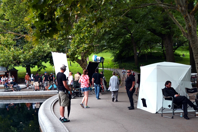 Reise nach New York: Filmdreh im Central Park