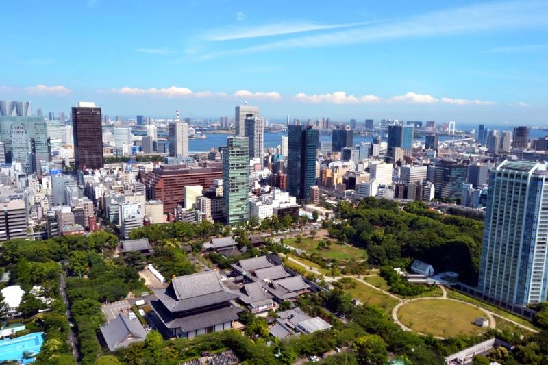 Ausblick vom Tokyo Tower Eiffelturm in Tokio, Japan