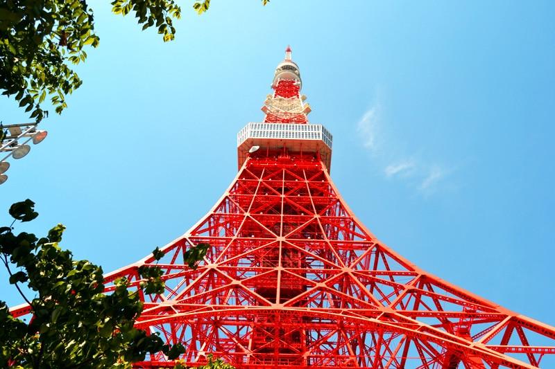 Tokyo Tower Eiffelturm in Tokio, Japan