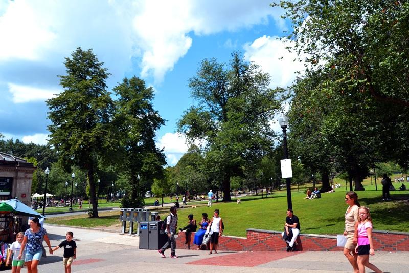 Boston Common Park Start Freedom Trail