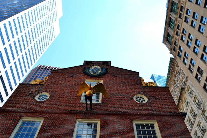 Boston Freedom Trail Old State House Golden Bird