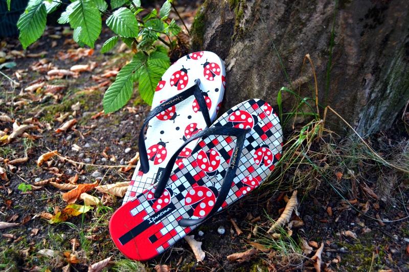 Hawaii-Feeling: Ipanema Flip Flops mit Marienkäfer Muster