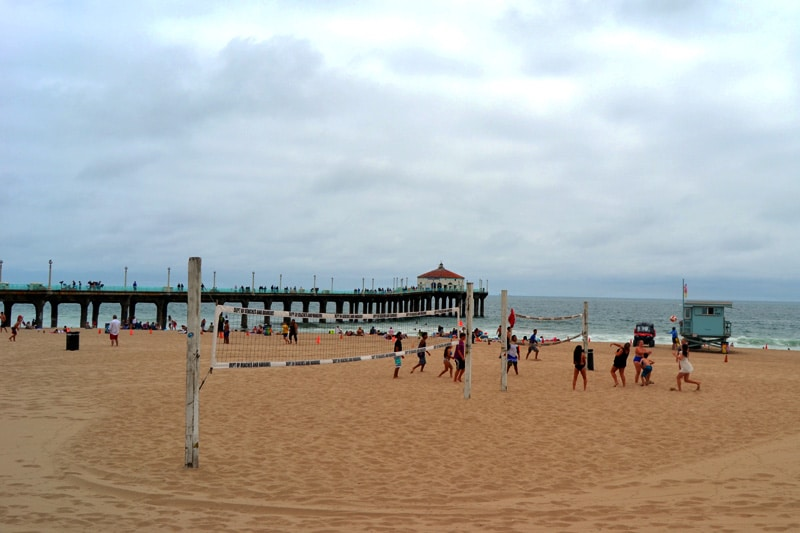 Volleyball am Strand von Los Angeles