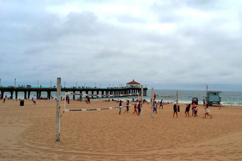 Volleyball am Strand von Los Angeles