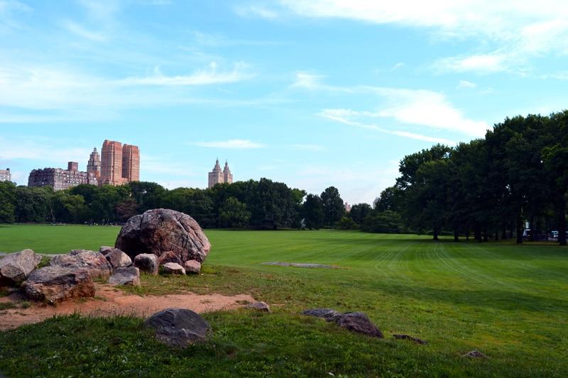 Central Park New York City Sportplatz