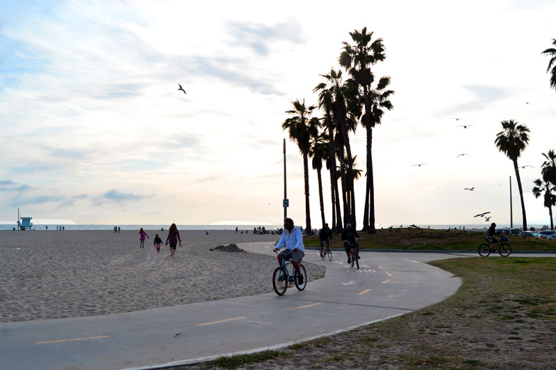 Marvin Braude Bike Trail am Venice Beach