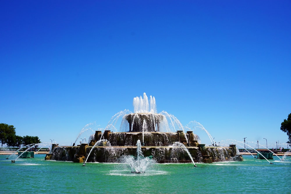 Chicago Sehenswürdigkeiten Top Ten: Buckingham Fountain (Buckingham Brunnen) im Grant Park