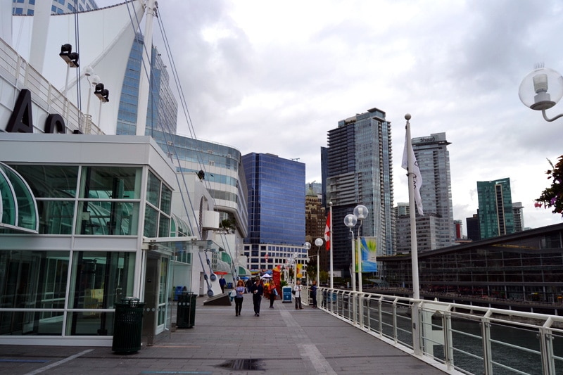 Canadian Trail am Canada Place in Vancouver