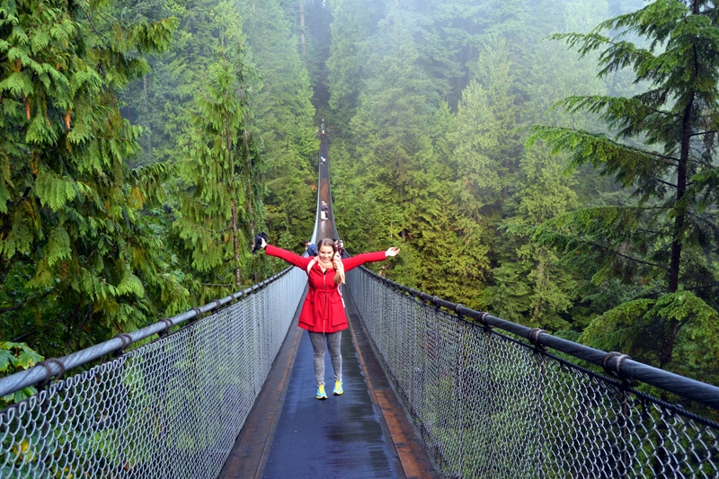 Suspension Bridge im Capilano Bridge Park Vancouver