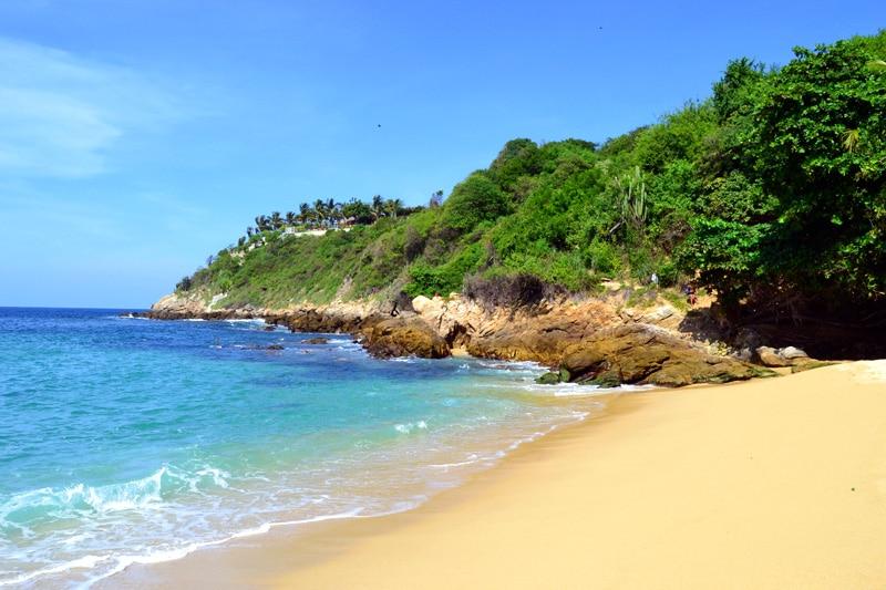 Reisemonat September: Playa Carrizalillo Strand in Puerto Escondido