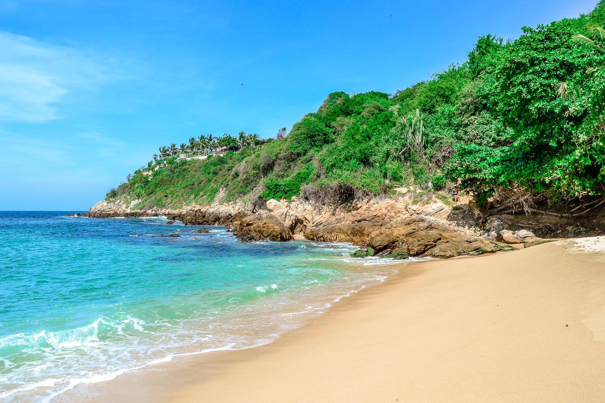 Playa Carrizalillo Strand in Puerto Escondido