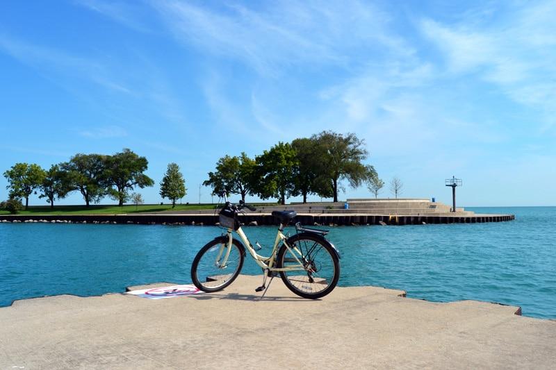 Chicago Sehenswürdigkeiten: Fahrrad von Bobbys Bike Hike in Chicago