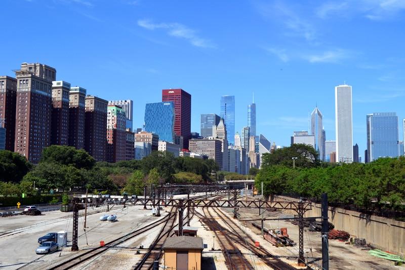 Eisenbahnbrücke an der Michigan Avenue Chicago