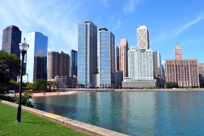 Reisemonat September: Ohio Street Beach in Chicago