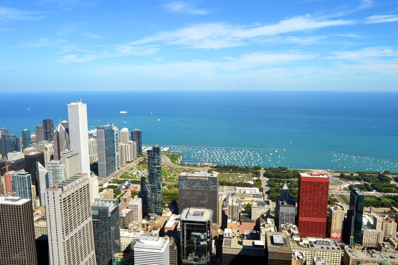 Chicago Ausblick vom Willis Tower