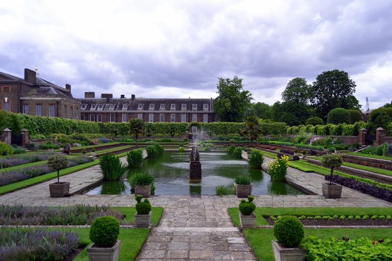 Reisemonat August: London Kensington Palace Sunken Gardens