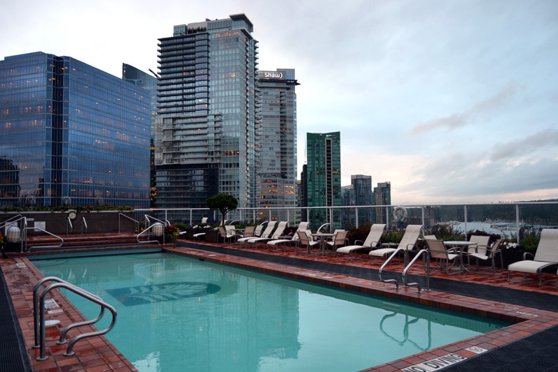 Reisemonat August: Pan Pacific Hotel Vancouver Rooftop Pool