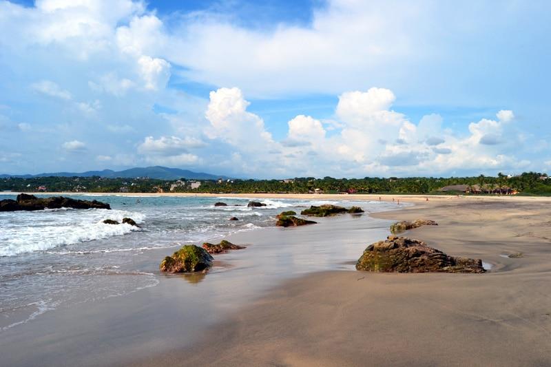 Playa Zicatela in Puerto Escondido, Mexico