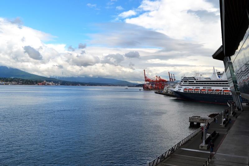 Hafen von Vancouver Kreuzfahrtschiff