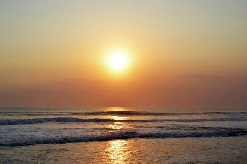 Sonnenuntergang Bali Canggu Echo Beach