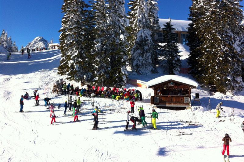 Skihütte in Garmisch Classic, Österreich
