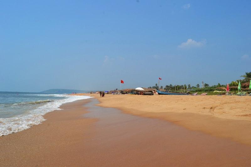 Calangute Beach Strand in Goa, Indien