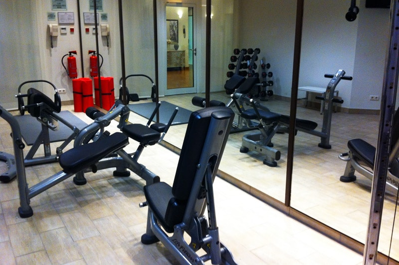 Crowne Plaza Berlin City Center Spa Wellness Bereich Fitnessstudio
