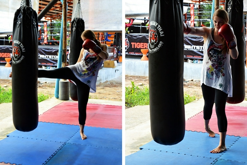 Training im Tiger muay Thai Camp Phuket