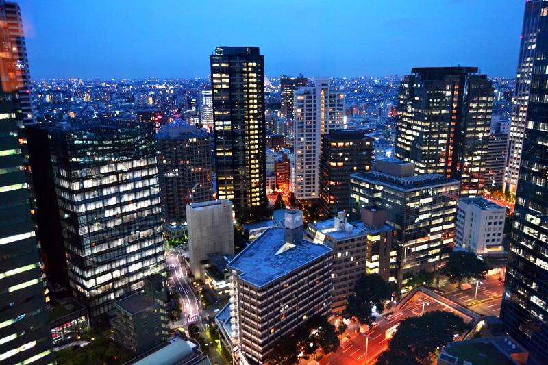 Tokyo Hilton Hotel Aussicht aus dem Zimmer