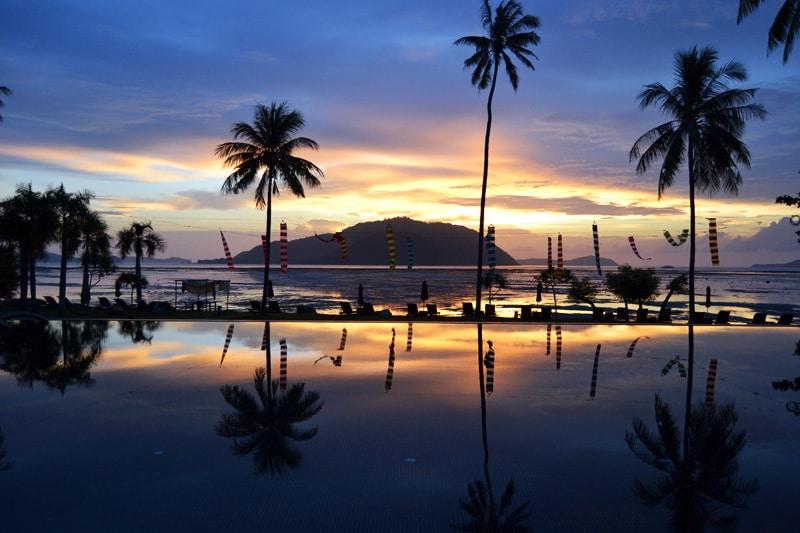 Sonnenaufgang im Vijitt Resort phuket, Thailand
