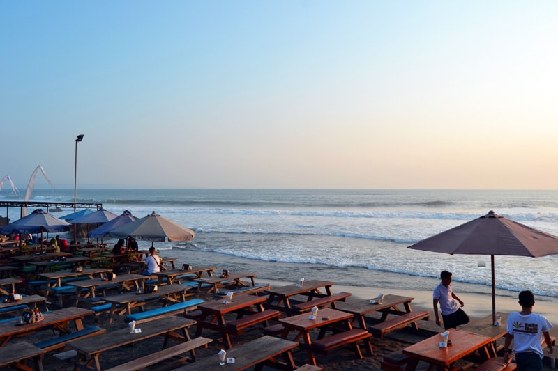 Echo Beach Restaurant in Canggu, Bali