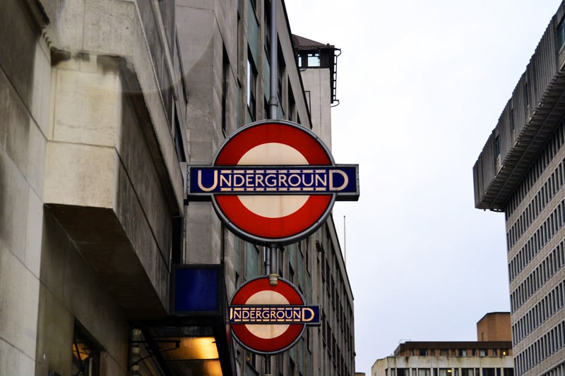 Underground Sign in London, England