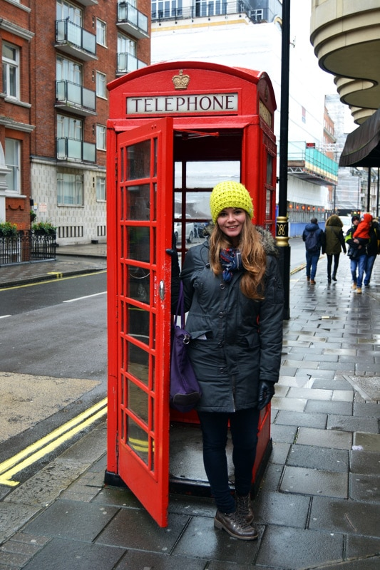 Franzi von Coconut Sports: Rote Telefonzelle in London