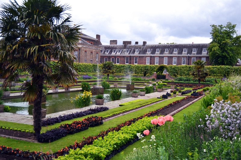 London Kensington Palace Sunken Gardens - Kensington Gardens