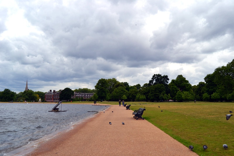 Pond im Hyde Park London, England
